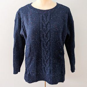 Tommy Hilfiger Cable Knit Navy Blue Sweater Medium